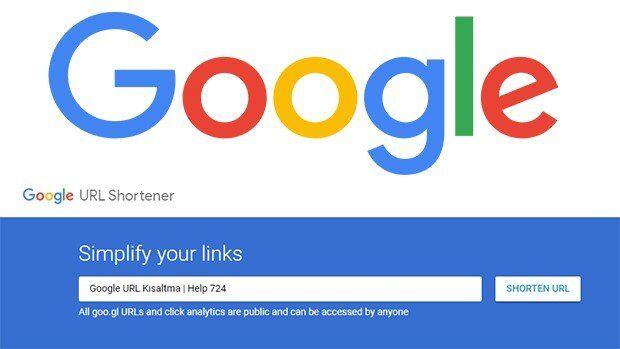 Google URL Kısaltma''goo.gl'' Hizmeti