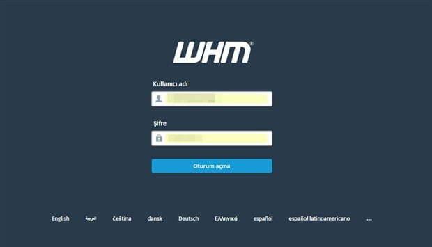 WHM'de Yeni Hesap Oluşturma Resimli Anlatım