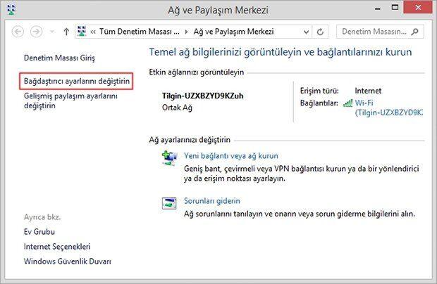 Windows'da Tanımlanamayan Ağ Sorunu İçin Çözüm
