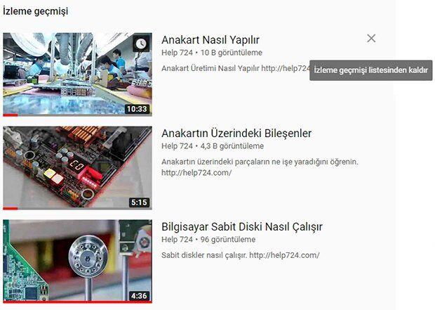 YouTube Geçmişi Nasıl Silinir? (PC)