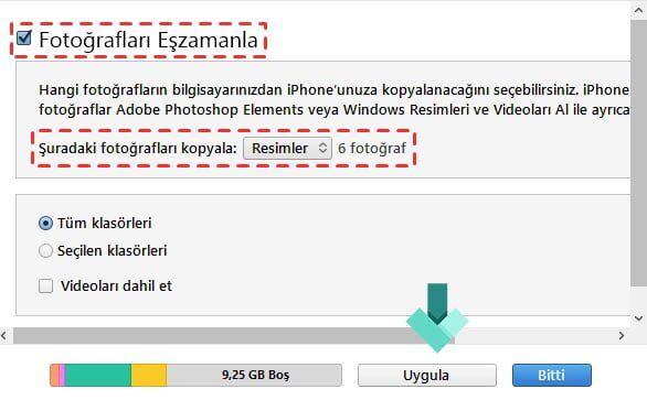 Bilgisayardan iPhone'a Fotoğraf (Resim) Aktarma