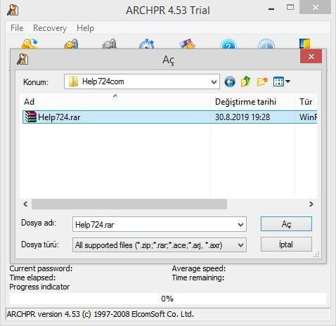 WinRAR Şifre Kırma Yöntemi (Kesin Çözüm)