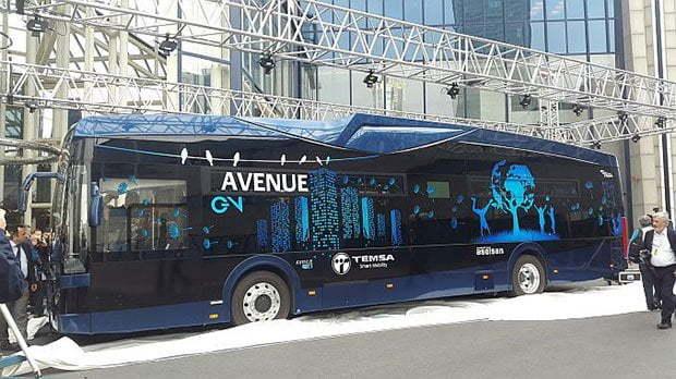 ASELSAN Üretimi Elektrikli Otobüs Avenue EV