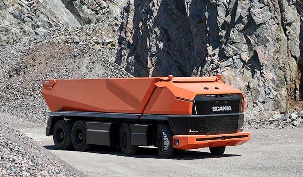 Kabinsiz Otonom Kamyon Scania AXL Ortaya Çıktı