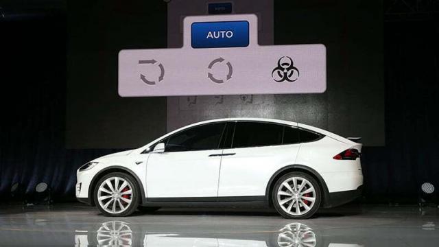 Tesla Model X Biyolojik Silah Savunma Hava Filtresi