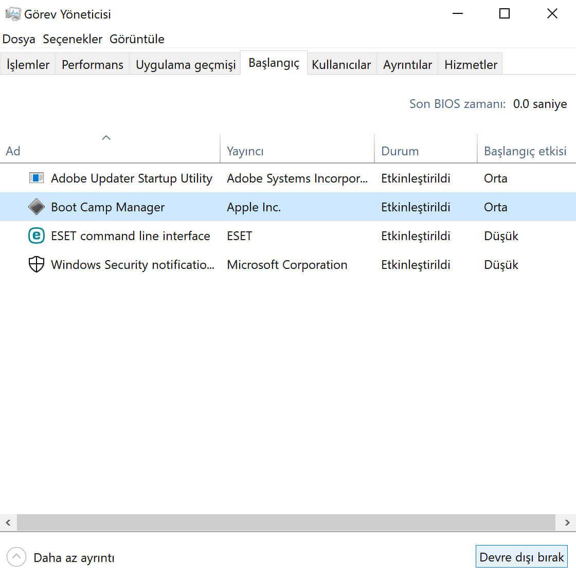 Windows'ta Başlangıç Uygulamalarını Durdurma