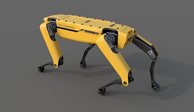 Boston Dynamics Spot Robot Polis Oldu