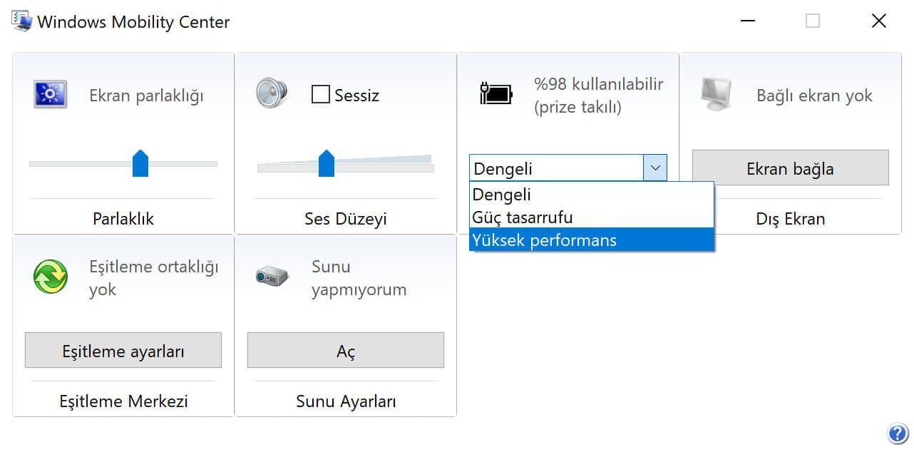 Windows 10 Yüksek Performans Modu Kayboldu – Nasıl Çözerim?
