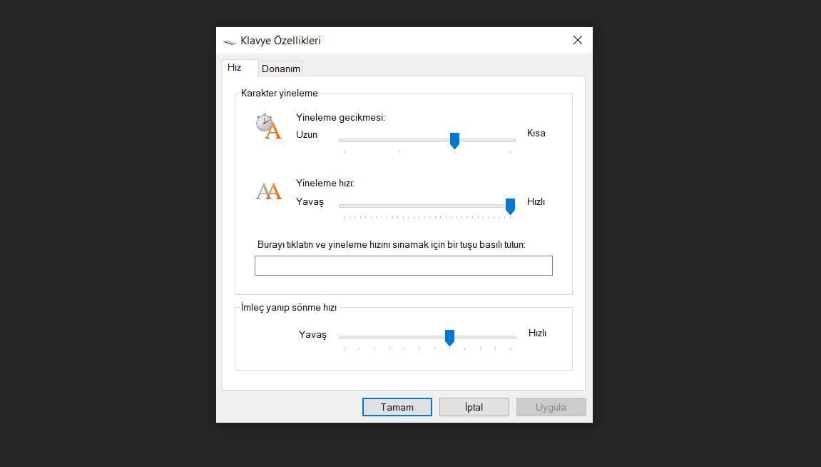 Windows Klavye Ayarları Nasıl Yapılır?