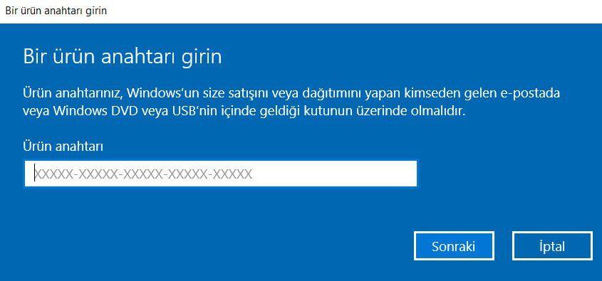 Windows 10 Lisansınızın Süresi Yakında Dolacak Sorunu ve Çözümü