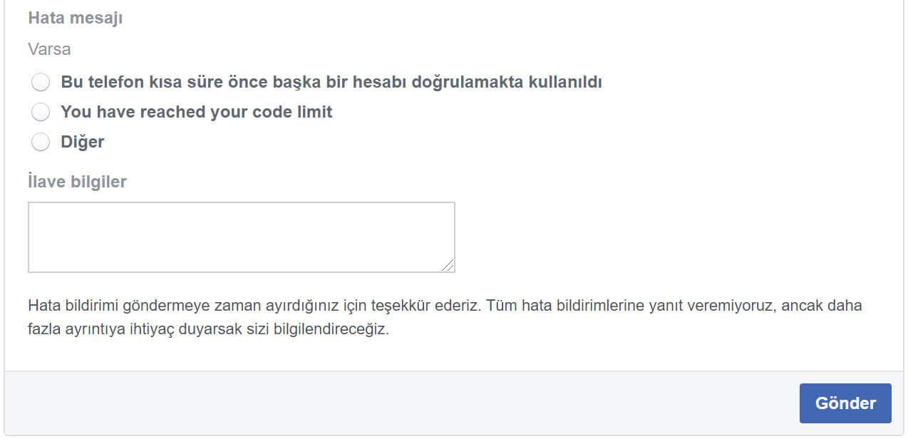"""""""Facebook Onay Kodu Gelmiyor"""" Sorunu ve Çözümü"""
