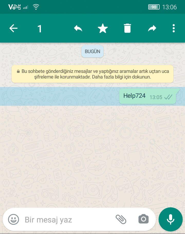 WhatsApp Gönderilen Mesajı Silme   Karşı Taraftan Silme!