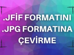 JFIF JPG Çevirme