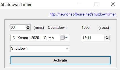 Windows 10 Bilgisayarı Zaman Ayarlı Kapatma