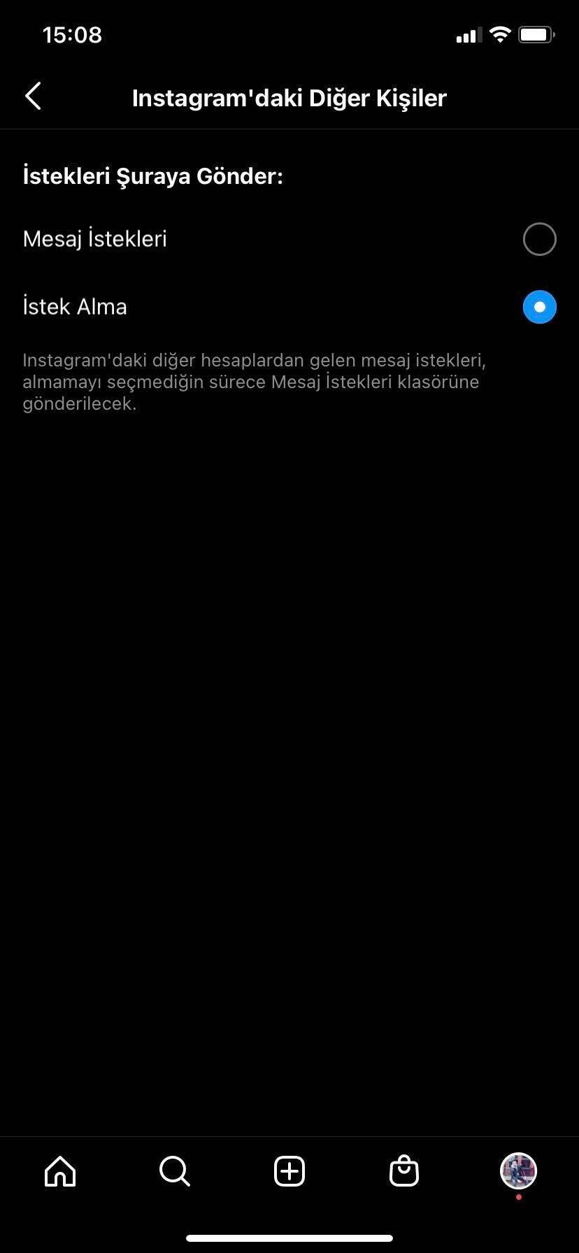 Instagram'da Mesaj İsteklerini Kapatma Adımı 1