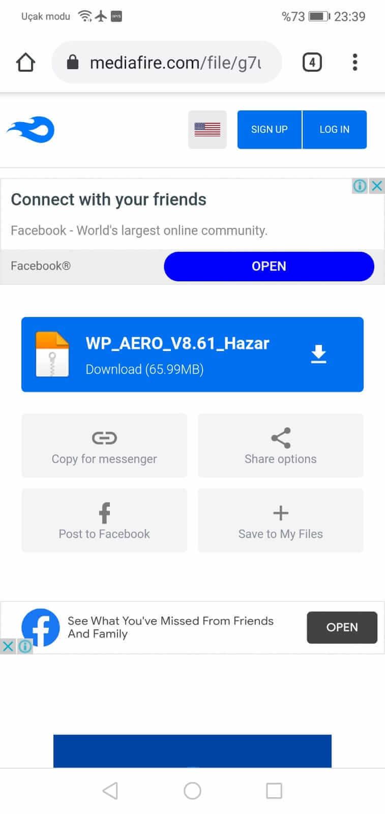 WhatsApp Aero İndirme Adımı