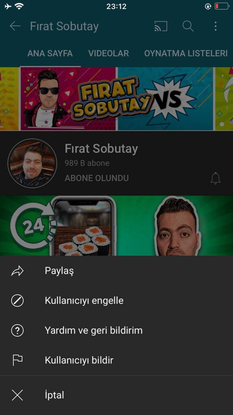 """YouTube Story İndirirken """"Paylaş"""" Butonunun Yerini Gösteren Adım"""