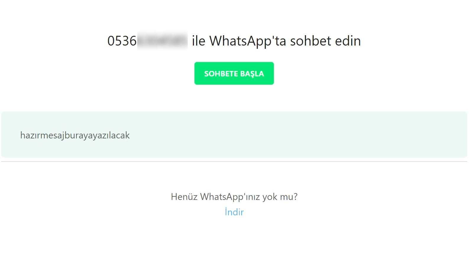 WhatsApp Sohbet Ekranı