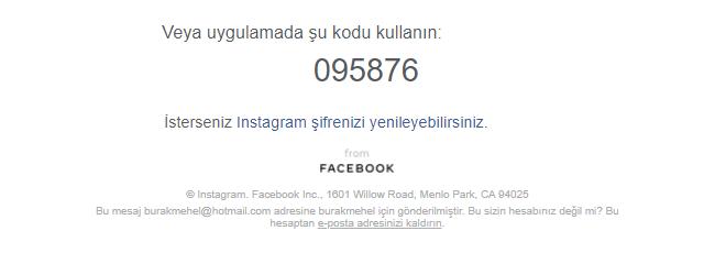 Instagram Şifrenizi Yenileyebilirsiniz.