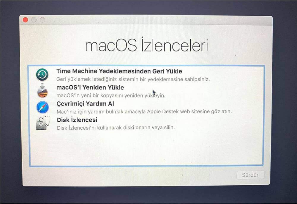 macOS İzlenceleri