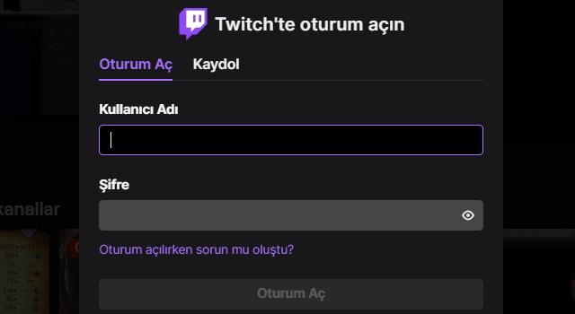 Twitch Giriş Sayfası