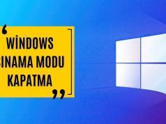 Windows 10 8 ve 7 de Sınama Modu Kapatma