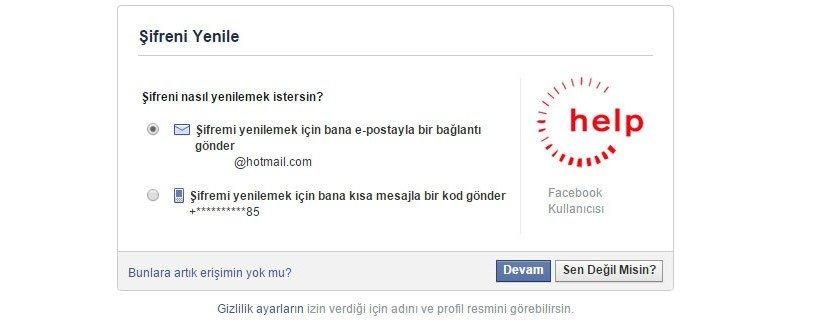 Facebook Hesabıma Giremiyorum 9