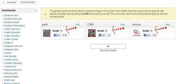 Facebook Sayfa Beğeni Hilesi