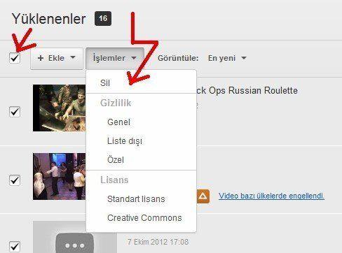 Youtube Video Silme Nasıl Yapılır 2